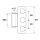 VX Rahmenteil 11.304 - 48,5 mm - Edelstahl matt 11304