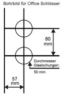 Glastürbeschlag Office E Vers. 1 Edelstahl matt