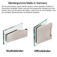 """Glastürschloss Studio """"Q"""" WC/Bad inkl. Bänder Edelstahl matt"""