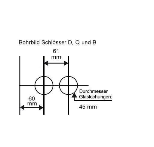 "Glastürschloss Studio ""D"" PZ (Profilzylinder) Edelstahl poliert"