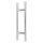 Stossgriffpaar 500/300 mm für Glas- und Holztüren Edelstahl matt