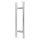 Stossgriffpaar 1.000/800 mm für Glas- und Holztüren Edelstahl matt