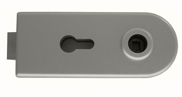 Glastürschloss Studio D Aluminium EV1 silber matt inkl. 2-tlg. Bänder