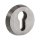 Schutzrosette | ES1 (WK2) + Feuerschutz zertifiziert | V2a Edelstahl matt | Außenrosette (11mm) aus massivem Edelstahl