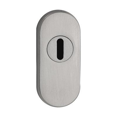 ovale Schutzrosette | V2A Edelstahl matt | Höhe 11 mm | Kernziehschutz | *Made in Germany*