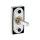Hochwertiger Fenstergriff eckig | V2A Edelstahl matt | Metallische Unterkonstruktion | Dreh-Kipp Funktion | Ivory L