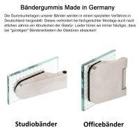 """Glastürschloss Studio """"D"""" BB (Buntbart) inkl. Bänder Edelstahl matt"""