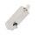 Abschließbarer Fenstergriff   V2A Edelstahl matt   Stiftlänge 35 mm + 43 mm   Angel