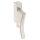Abschließbarer Fenstergriff   V2A Edelstahl matt   Stiftlänge 35 mm + 43 mm   Shine L
