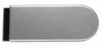 Glastürschloss Studio D Aluminium EV1 silber matt