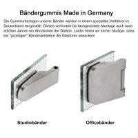 """Glastürbeschlag-Set Studio """"D3"""" PZ (Profilzylinder) Edelstahl matt inkl. Bänder"""