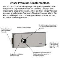 "Glastürbeschlag-Set Studio ""Q3"" UV..."