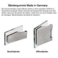 "Glastürbeschlag-Set Studio ""Q3"" UV (unverschließbar) Edelstahl matt inkl. Bänder"
