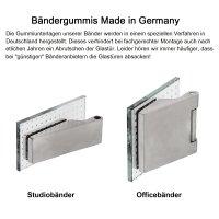 "Glastürschloss Studio ""Q3"" WC (Stickhebel) Edelstahl matt"