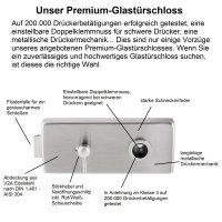 """Glastürbeschlag-Set Studio """"Q3"""" WC..."""