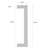 Griffpaar für Schiebetüren auf Gehrung | V2A...