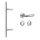 Stoßgriff 45° m. ES1 zert. Schutzrosette Edelstahl matt / Griff Orlando
