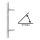 Stoßgriff 45° m. ES1 zert. Schutzrosette ZA Edelstahl matt / Griff Orlando