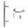 Stoßgriff 45° m. ovaler Schutzrosette inkl. Zylinderabdeckung Edelstahl matt / Griff Orlando