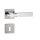 Hochwertige eckige Edelstahl Rosettengarnitur Long Cube Q