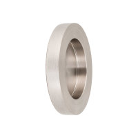 Griffmuschel zum Aufkleben | Edelstahloptik | rund | 70 x 10 mm | 1 Paar
