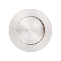 Griffmuschel zum Aufkleben | Edelstahloptik | rund | 70 x 10 mm | 1 Stück