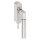 Abschließbarer Fenstergriff Rund   V2A Edelstahl matt   Stiftlänge 35 mm + 43 mm   Bauhaus