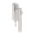 Abschließbarer Fenstergriff Rund   V2A Edelstahl matt   Stiftlänge 35 mm + 43 mm   Ivory L