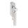 Abschließbarer Fenstergriff Rund   V2A Edelstahl matt   Stiftlänge 35 mm + 43 mm   Lightning L