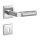 Hochwertige eckige Edelstahl Rosettengarnitur Bauhaus Q