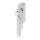 Abschließbarer Fenstergriff Rund | V2A Edelstahl matt | Stiftlänge 35 mm + 43 mm | Lightning R