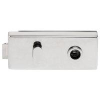 Glastürbeschlag Q3 WC | ovaler Drehknauf | ohne Bänder | V2a Edelstahl poliert | auch objektgeeignet
