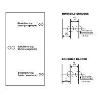 Glastürbeschlag Q3 BB | inkl. Studiobändern | V2a Edelstahl poliert | auch objektgeeignet