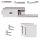 Glastürbeschlag Q3 BB   inkl. Officebändern + RT   V2a Edelstahl poliert   auch objektgeeignet