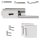 Glastürbeschlag Q3 PZ | inkl. Officebändern + RT | V2a Edelstahl poliert | auch objektgeeignet