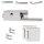Glastürbeschlag Q3 WC   ovaler Drehknauf   inkl. Officebändern + RT   V2a Edelstahl poliert   auch objektgeeignet - Kopie