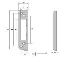 Schließblech für Glastürschlösser |...