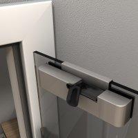 Glastüreinzugsdämpfer, Türdämpfer bzw. Türschließer,  ermöglicht den Selbsteinzug des Türblattes