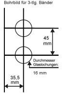 """Glastürschlossgegenkasten Studio """"Q"""" eckig inkl. 3-tlg. Bänder"""