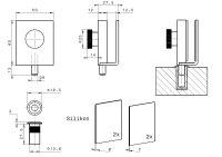 Glastür-Feststeller-Set | V2A Edelstahl matt | mit Aufnahmebuchse
