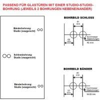 Glastürbeschlag Q3 WC | ovaler Drehknauf | inkl....