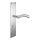 Renovierungsgarnitur Langschild Q | 2 mm Schildstärke | V2A Edelstahl matt geb. | 250x55x2 mm | Shine