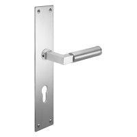 Renovierungsgarnitur Langschild Q | 2 mm Schildstärke | V2A Edelstahl matt geb. | 250x55x2 mm | Bauhaus