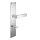 Renovierungsgarnitur Langschild Q | 2 mm Schildstärke | V2A Edelstahl matt geb. | 250x55x2 mm | Square Mid