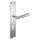Renovierungsgarnitur Langschild Q   2 mm Schildstärke   V2A Edelstahl matt geb.   250x55x2 mm   Ivory