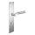 Renovierungsgarnitur Langschild Q   2 mm Schildstärke   V2A Edelstahl matt geb.   250x55x2 mm   Lightning