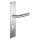 Renovierungsgarnitur Langschild Q | 2 mm Schildstärke | V2A Edelstahl matt geb. | 250x55x2 mm | Angel